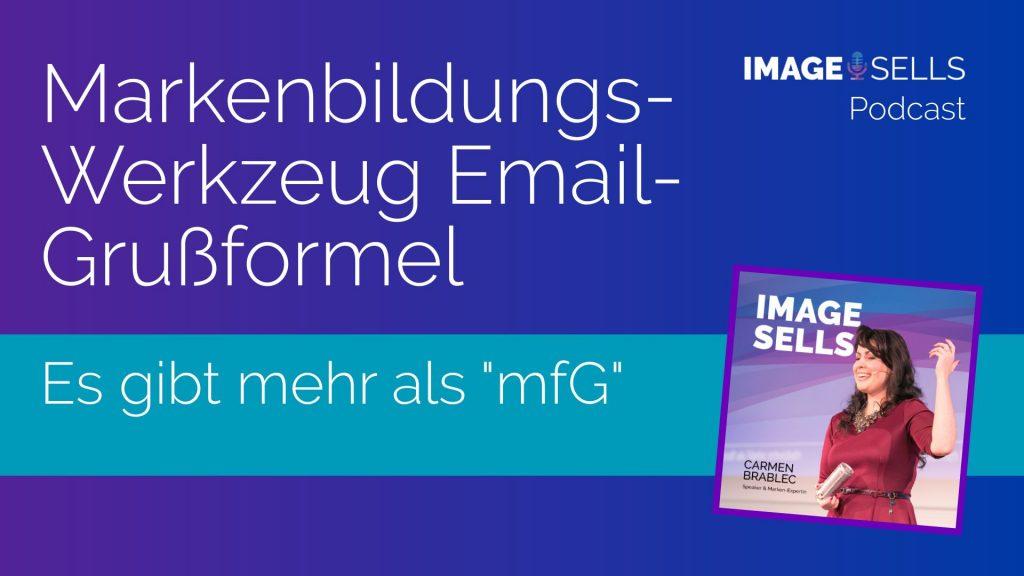 Markenbildungs-Werkzeug Email-Grussformel